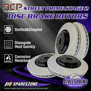 BCP Slotted & Dimpled Disc Brake Rotors Front + Rear for BMW 135i E82 E88 08-on