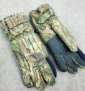Realtree Mens Lectra-Gloves W/ Pockets! Camo Thinsulate Insulated Hunting Warm