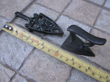Vintage Complete With Trivet Small Lovely Coal Cast Iron Ironing Clothes Press