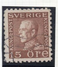 Sweden 1921-38 Early Issue Fine Used 15ore. 026723