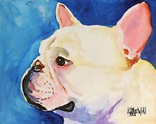 French Bulldog Art Print Signed by Artist Ron Krajewski 8x10