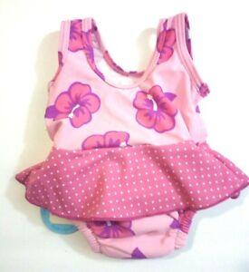 Baby Girls' Swim Suit with Built-In Absorbent Swim Diaper,Pink NEW,Swim Diaper