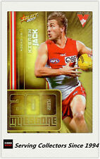 2017 AFL Footy Stars Trading Card Milestones Subset MG67 Kieren Jack (Sydney)
