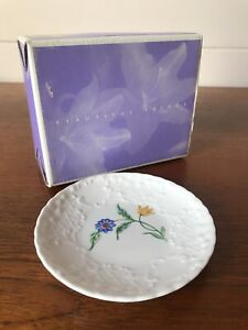 Vintage Coalport Summer Meadow Porcelain Pin/Butter Dish Made In England