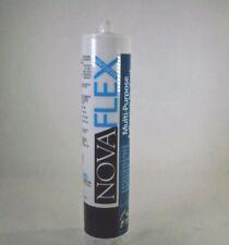 Novagard Novaflex M100 Multi-Purpose Silicone Sealant White 10.3 oz Cartridge