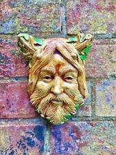 Cernunnos Horned Pagan God Wall Plaque Wiccan Sculpture Art