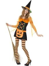 Pumpkin Witch Costume 4/6 Teenager Size HALLOWEEN CLEARANCE Ladies Fancy Dress