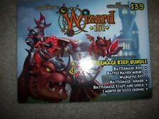 New Wizard 101 Battlemage Keep Bundle Game Card Crowns Battle Havox Mount Armor+
