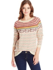 Woolrich Women's Wool Sweater Mohair Fair Isle Sheep Size M