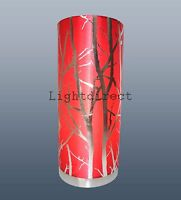 RED LAMPSHADE TREE BRANCH EFFECT TABLE LAMP BEDSIDE PAD LAMP BASE