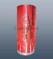 Red paralume Ramo Effetto Lampada da tavolo lampada da comodino Pad Base