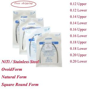 Dental Orthodontic Super Elastic Niti Round Ovoid/Natural Form/Square Arch Wires