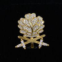 WWII GERMAN WH OAK LEAF SWORDS DIAMONDS KNIGHTS GOLDEN With Box