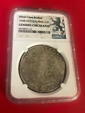 SILVER LION DOLLAR 1648 NETHERLAND 1LD NGC GENUINE CIRCULATED