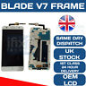 ZTE BLADE V7 WITH FRAME WHITE LCD TOUCH SCREEN DIGITIZER OEM ORIGINAL ASSEMBLY
