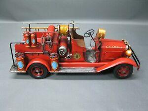 Alte Feuerwehr Modellauto Blechauto 45 cm Oldtimer  Feuerwehrauto