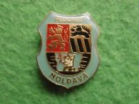 Antique FLUORIT MOLDAVA Heraldic Erb Shield Town City Pin Badge