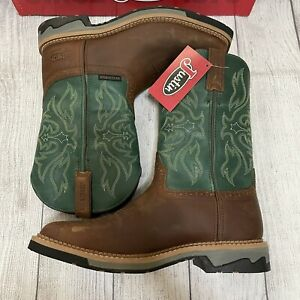 justin work boots 10