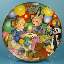 Carol Lawson Collector Plate TEDDY'S BIRTHDAY PARTY 1985 Japan Franklin Mint
