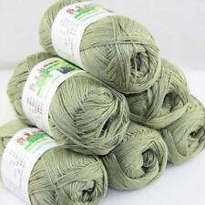 Sale New 6 Skeinsx50gr Soft Bamboo Cotton Baby Hand Knit  Shawls Crochet Yarn 20