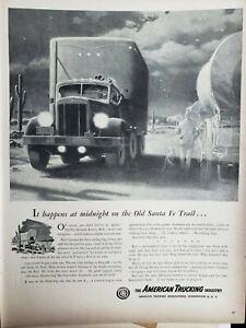 Lot 3 Vintage 1948 American Trucking Industry ATI Print Ads