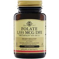 Solgar, Folate, 1,333 mcg, 100 Tablets (Metafolin 800 mcg)