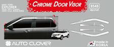 Premium Chrome Silver Door Visor Rain Vent Guard 4P for Ford Explorer 2011~2019