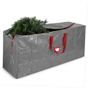 Artificial Christmas Tree Storage Bag - Fits Up to 7.5 Foot Holiday Xmas Gray