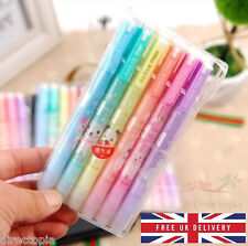 6 Animal Design Double End Highlighter Fluorescent Pen Set School Office Kawaii