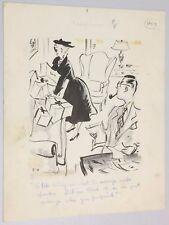George Clark (1902-1981) The Neighbors Original Comic Art Drawing 2-4-1956