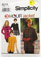 Womens 3 Hour Jacket 4 Styles Sewing Pattern 9218 Simplicity Size 12 14 16 New
