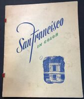 Vintage San Francisco In Color, A Camera Tour Points Of Interest Print Art Book