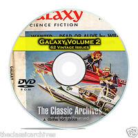 Galaxy, Vol 2, 62 Vintage Pulp Magazine, Golden Age Science Fiction DVD CD C56
