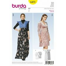 1967a9bb6b9f BURDA STYLE WOMEN S Avvolgere Lungo   Corto Abito Sewing Pattern 6473