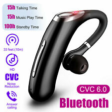 Bluetooth Headset Handsfree Wireless Earpiece Noise Reduction Microphone Earbuds