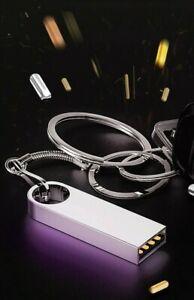 Mini Clé USB Métal 8 16 32 64 128 256 Go Solide Etanche Rapide Or Argent Noir