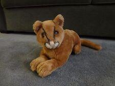 "16"" Vintage 1974 R. Dakin Brown Cat Stuffed Animal Rare EUC Shredded Clippings"