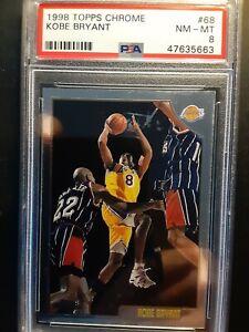 98 Kobe Bryant Topps Chrome #68 NM-MT PSA 8 -47635663. Nice Card.