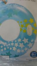 """INFLATABLE STARGAZE """"BLUE"""" SWIMMING POOL TUBE FLOAT with """"HANDLES"""""""