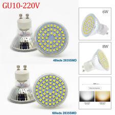 6W 8W GU10 LED SMD Warmweiß Kaltweiß Lampe Birne Licht spotlicht Leuchtmittel