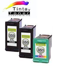3 cartuchos Tinta para hp350+351 XL c4340 c4380 c4385 c4400 c4424 c4480 c4500