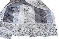 Tagesdecke 260x300 Patchwork Quilt blau weiß Landhaus Romantik Rosen Karo Plaid