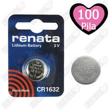 100x RENATA - pila a bottone 3 V CR1632 16 mm 3.2 125 mAh litio
