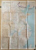 1937 EAST CHINA MAP MANCHURIA KOREA TAIWAN MANCHUKUO FORMOSA