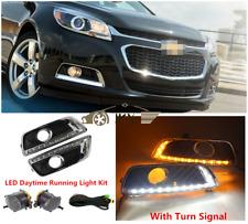 For Chevy Malibu 2013-2015 Fog Lights LED DRL Daytime Running Lamps Harnes Kit
