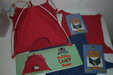 Sheppard & Greene Red Ferret Tent Toy & Red/Blue Cage Hammocks