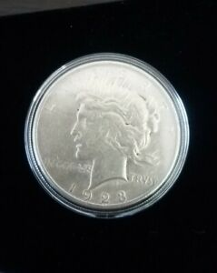 1923 Peace Dollar AU LUSTER 90% Silver US Coin