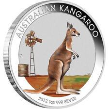 2012 Australian Outback Kangaroo 1oz Silver Coloured Coin Beijing Expo Show