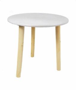 Deko Holz Tisch weiß - 30x30 cm - kleiner Beistelltisch Sofatisch Blumenhocker