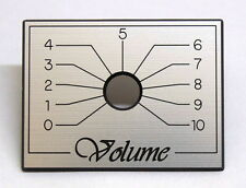 Engraved ABS Amplifier face plate - Volume